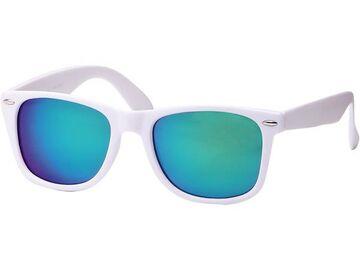 Sonnenbrille Nerdbrille weiß rot Brille verspiegelt bunt 400 UV Wayfarer Unisex