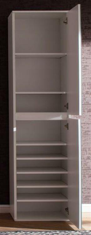 schuhschrank in wei mirror kompakt garderobe schrank mit spiegelt ren 40 cm ebay