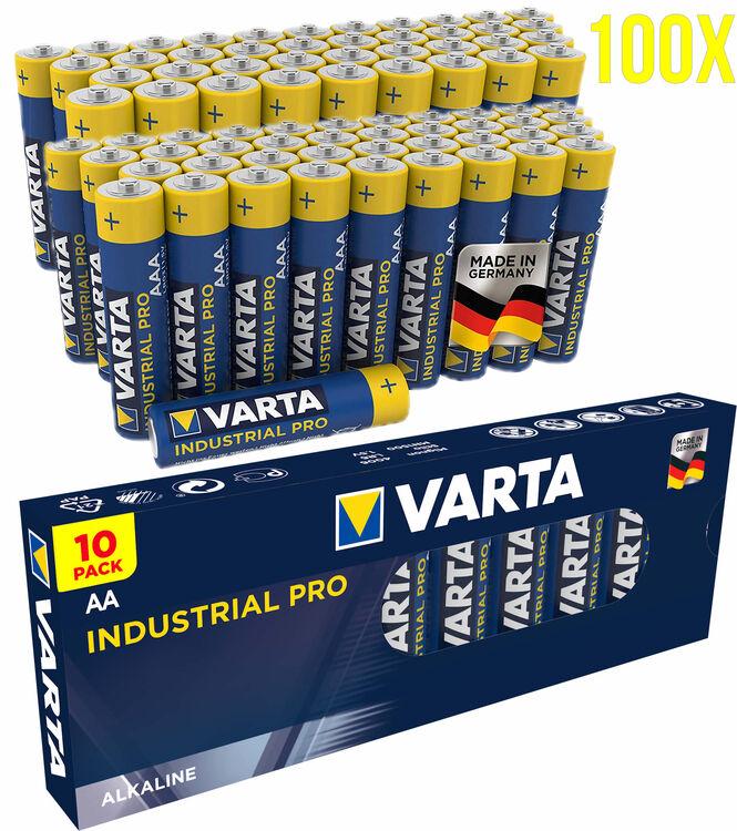 100x Mignon AA / LR6 - Batterie Alkaline, VARTA Industrial 4006, 1,5V, 2950 mAh Batterien Made in Germany - Bild 1