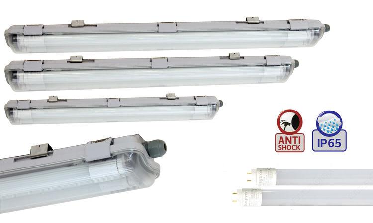 LED T8 G13 SET LED Feuchtraumleuchte IP65 60cm//120cm//150cm Wannenleuchte inkl