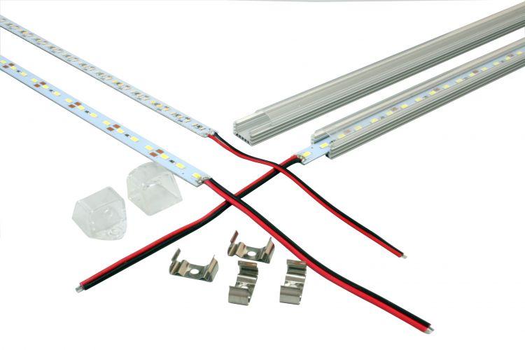 4x Unterbauleuchte Leiste Leuchte Lichtleiste 1 m Unterbau Warmweiß SMD Netzteil