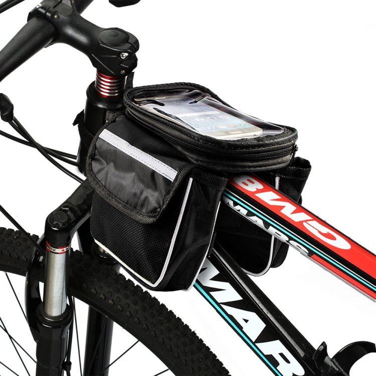 Wasserdichte Fahrrad Tasche Bike Bag Doppeltasche Rahmentasche ...