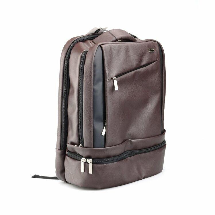 560cb7bfe4a82 Leder Rucksack für Laptop Notebook Tablet Business Schule Uni Tasche ...
