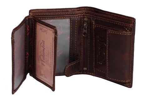 FFelsenfest Vintage Geldbörse Geldbeutel Portemonnaie Querformat antikbraun
