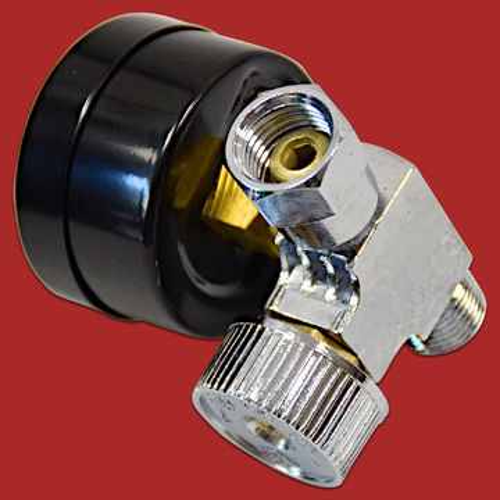 """1//4/""""Mini Druckluft Regler mit Manometer SET INKLUSIVE Stecker Schnellkupplung a2"""