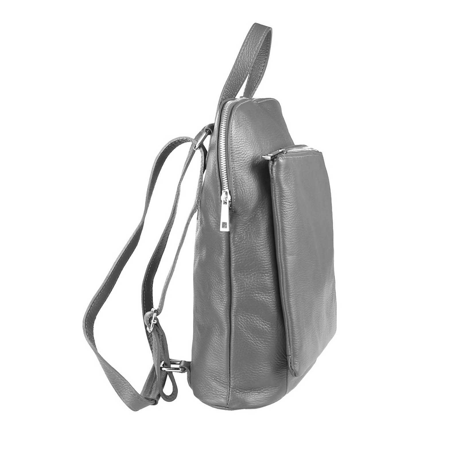 ITALy-DAMEN-LEDER-Reise-RUCKSACK-SchulterTasche-Shopper-Backpack-Ledertasche-BAG Indexbild 23