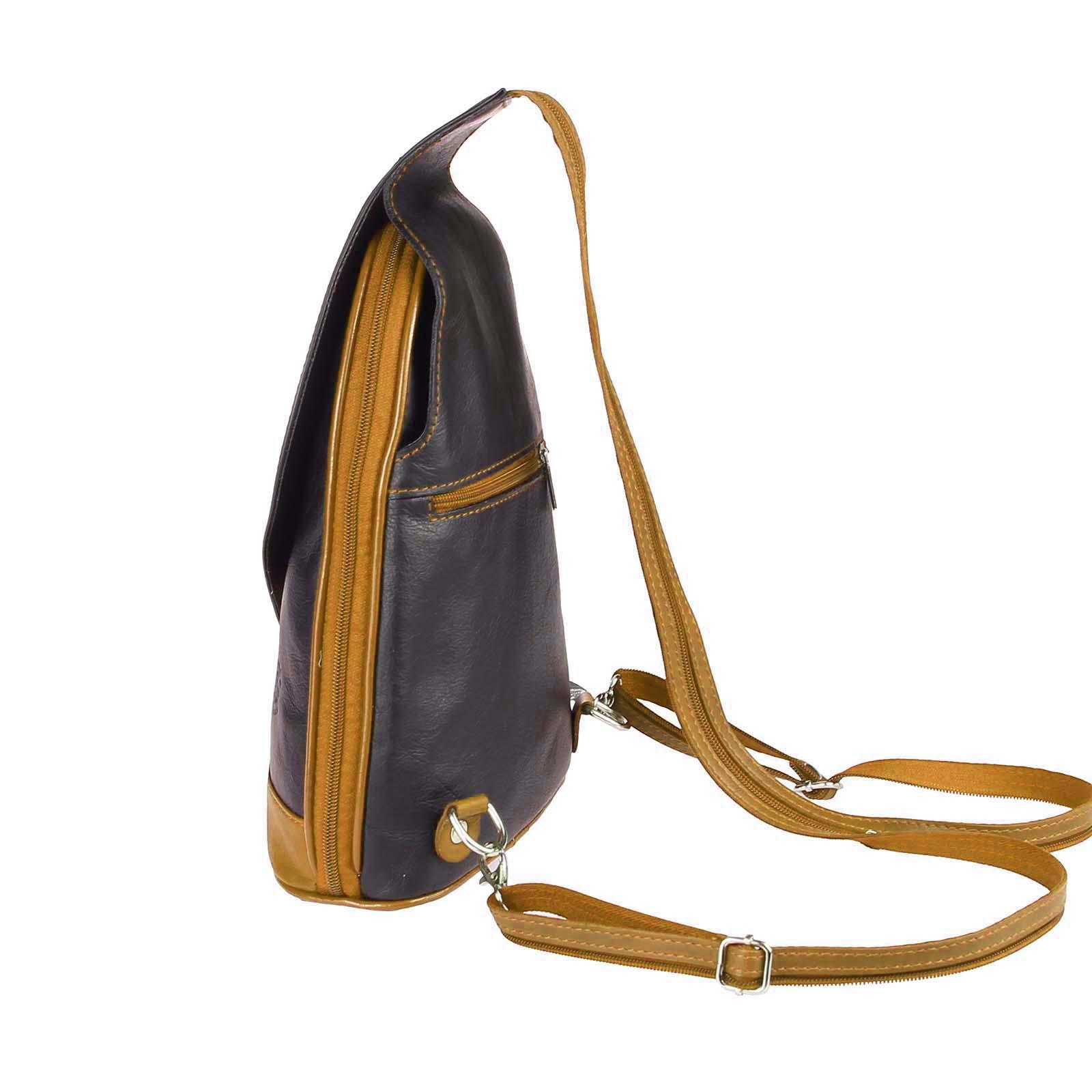 ITALY-DAMEN-LEDER-RUCKSACK-Schulter-Tasche-Reise-BACKPACK-Lederrucksack-it-BAG Indexbild 76