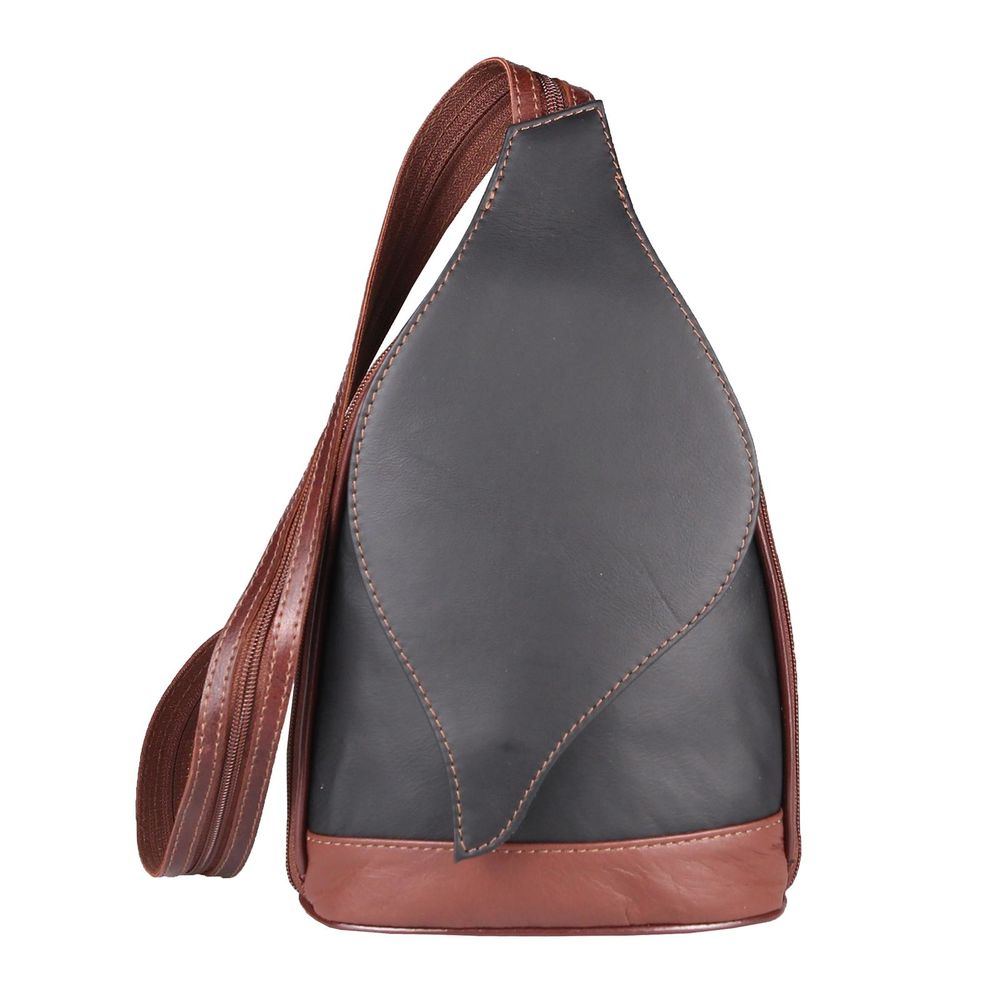echt Leder Rucksack Cognac Backpack Lederrucksack Damen Cityrucksack NEU Ital