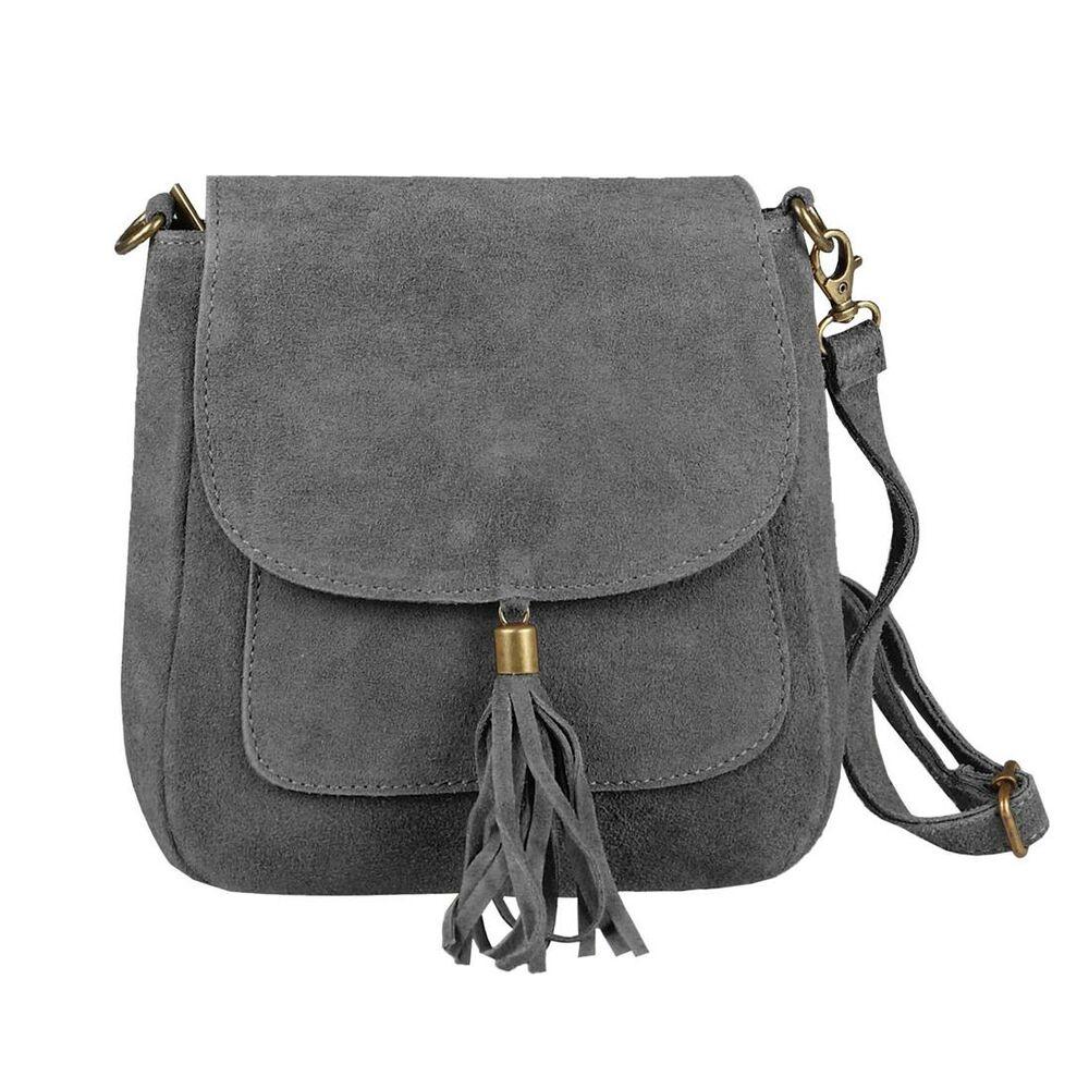 Damen Luxus Echtleder Klappe über Handtasche Schultertasche Schultertasche