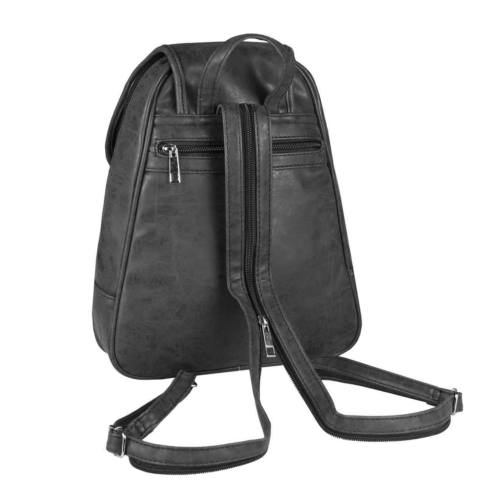 a045e48a447a3 DAMEN Stadt-RUCKSACK Schulter-Tasche BackPack Leder Optik freizeit ...