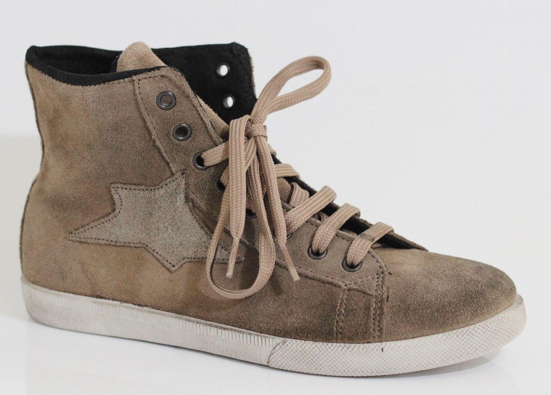 iTaLy DAMEN Ovye TOP LEDER Hi HIGH TOP Ovye SNEAKER Wildleder LEDER- Zapatos  Strass-Steine f19a00