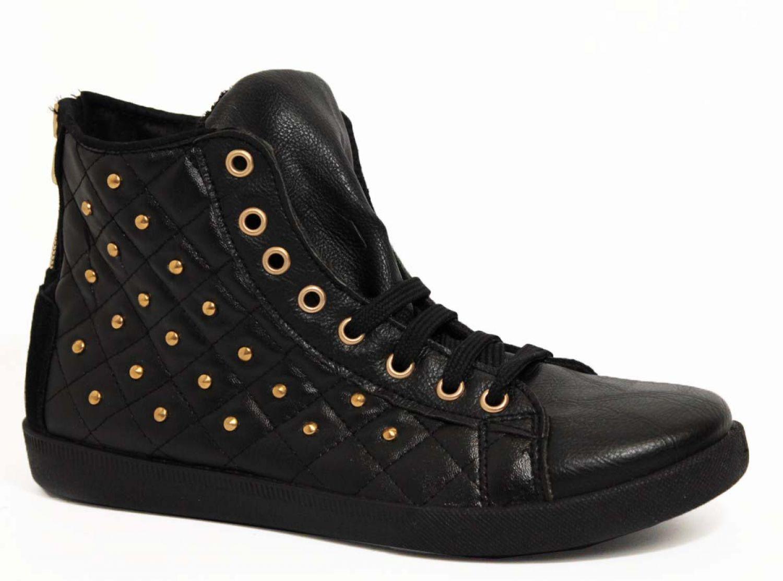 ITAL OVYE DAMEN- HIGH Zapatos  Hi HIGH DAMEN- TOP LEDERSNEAKER LEDER- Zapatos  Nieten Schnür Zapatos a76a8d