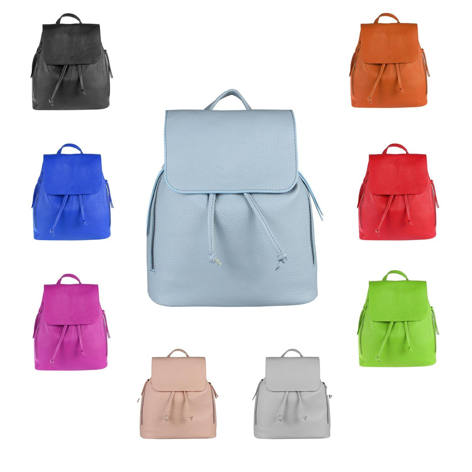 7e71efdedf Details about Italian Women s Real Leather Backpack City Shoulderbag  Daypack Bag