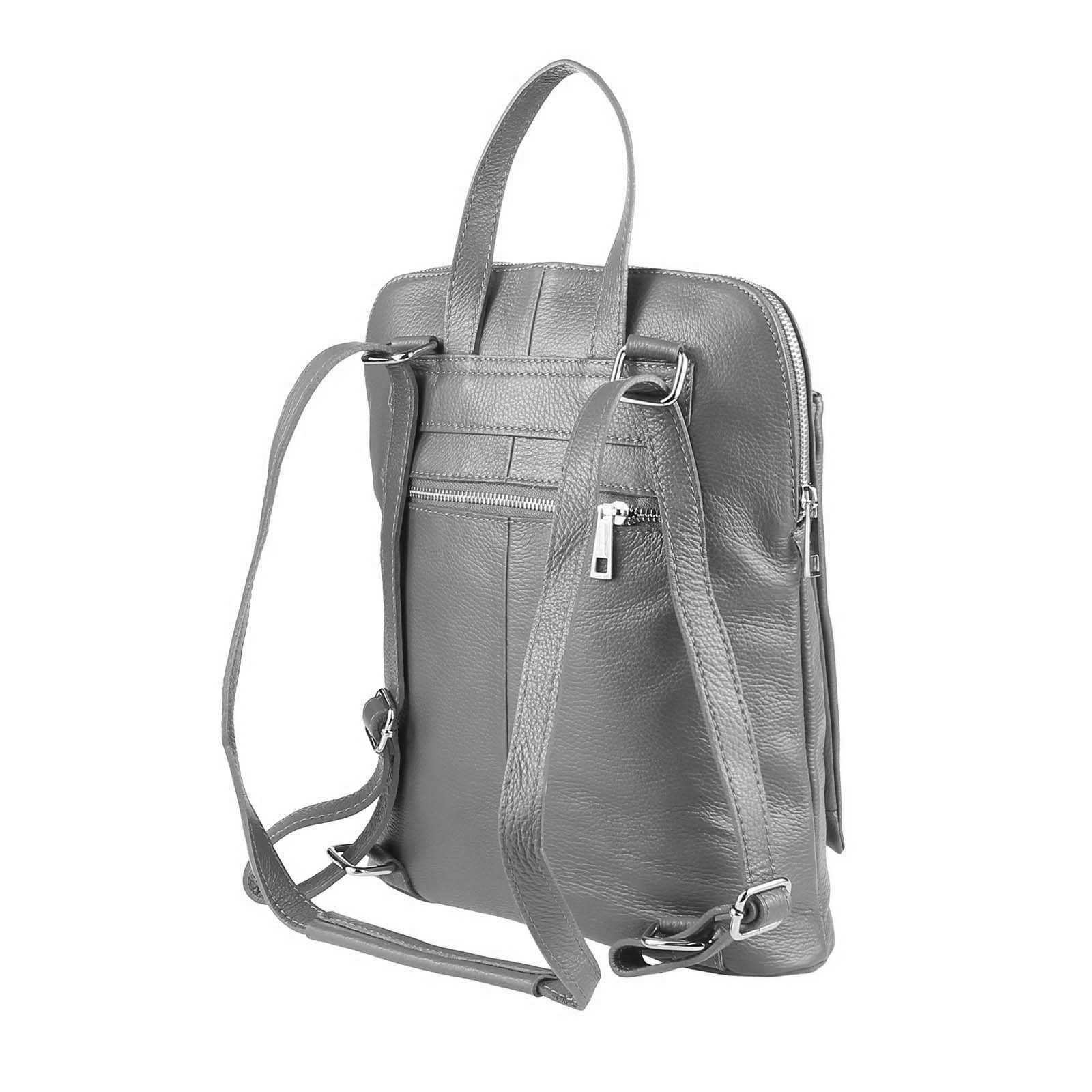 ITALy-DAMEN-LEDER-Reise-RUCKSACK-SchulterTasche-Shopper-Backpack-Ledertasche-BAG Indexbild 24