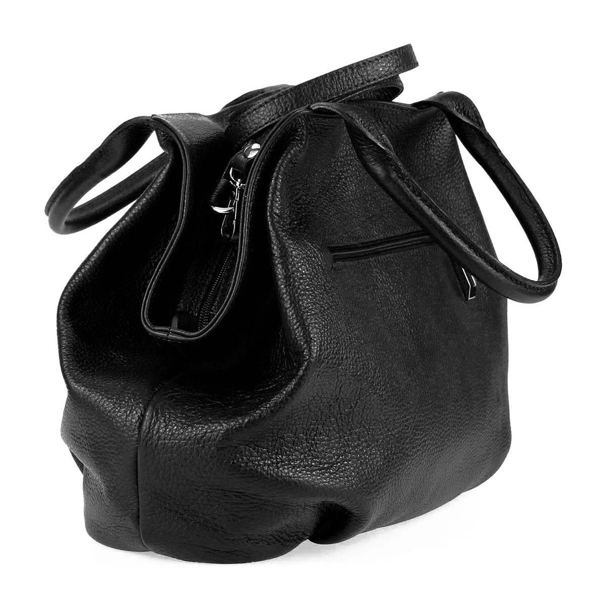 ITALY-LEDER-SHOPPER-Umhaengetasche-Schulter-Hand-Tasche-Damentasche-Ledertasche Indexbild 27