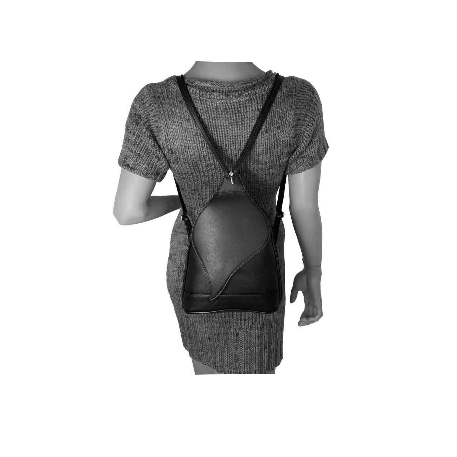 ITALY-DAMEN-LEDER-RUCKSACK-Schulter-Tasche-Reise-BACKPACK-Lederrucksack-it-BAG Indexbild 66
