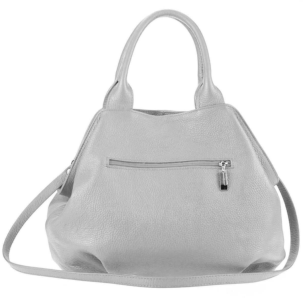 ITALY-LEDER-SHOPPER-Umhaengetasche-Schulter-Hand-Tasche-Damentasche-Ledertasche Indexbild 13