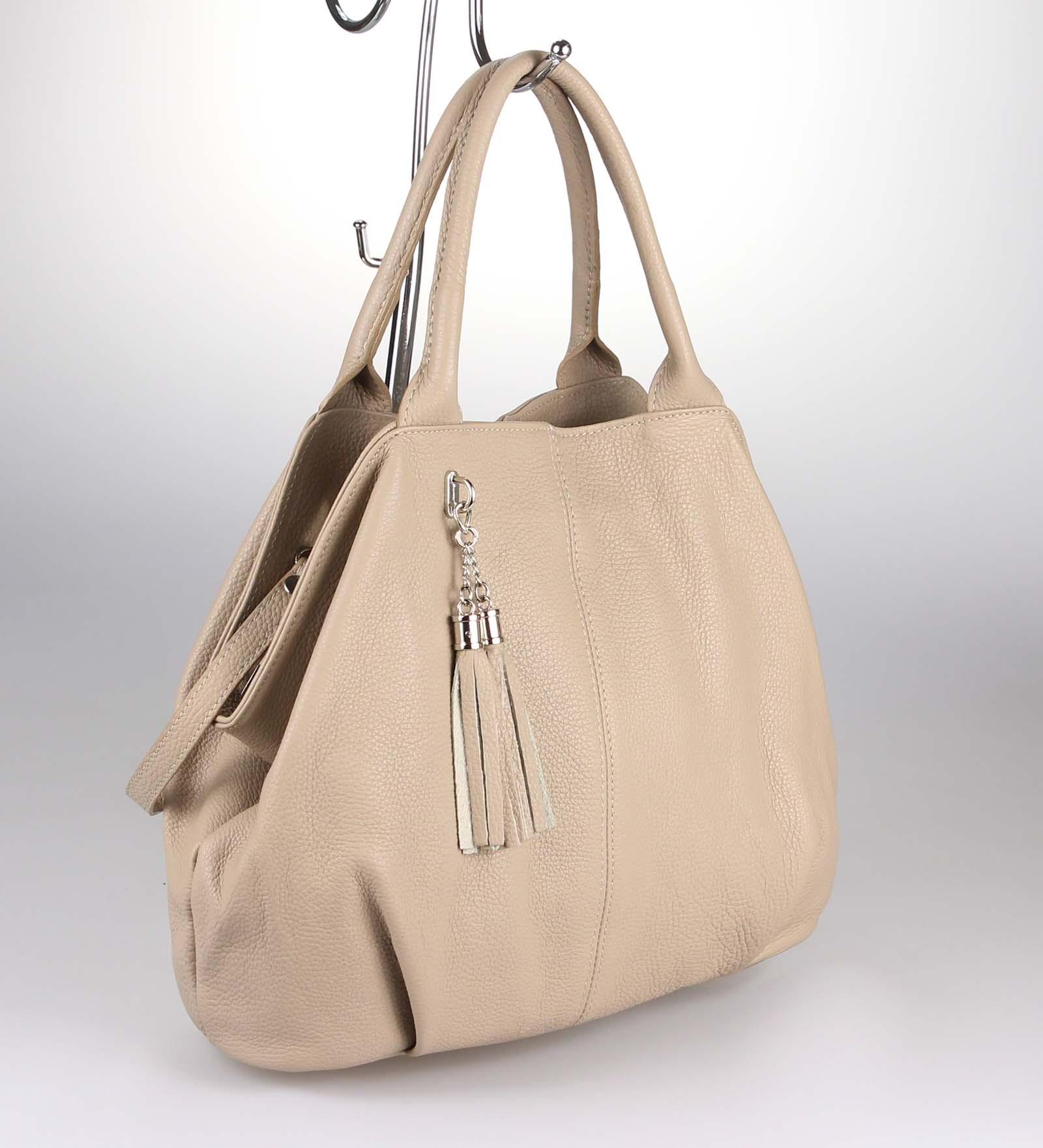 ITALY-LEDER-SHOPPER-Umhaengetasche-Schulter-Hand-Tasche-Damentasche-Ledertasche Indexbild 16