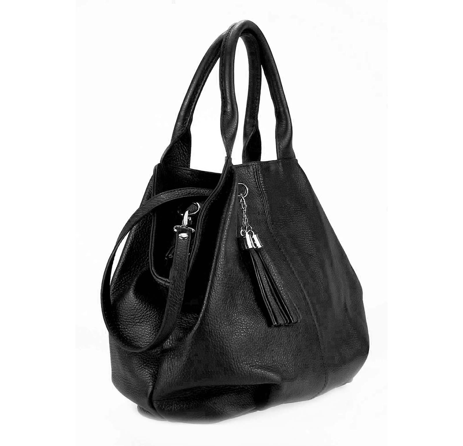 ITALY-LEDER-SHOPPER-Umhaengetasche-Schulter-Hand-Tasche-Damentasche-Ledertasche Indexbild 26
