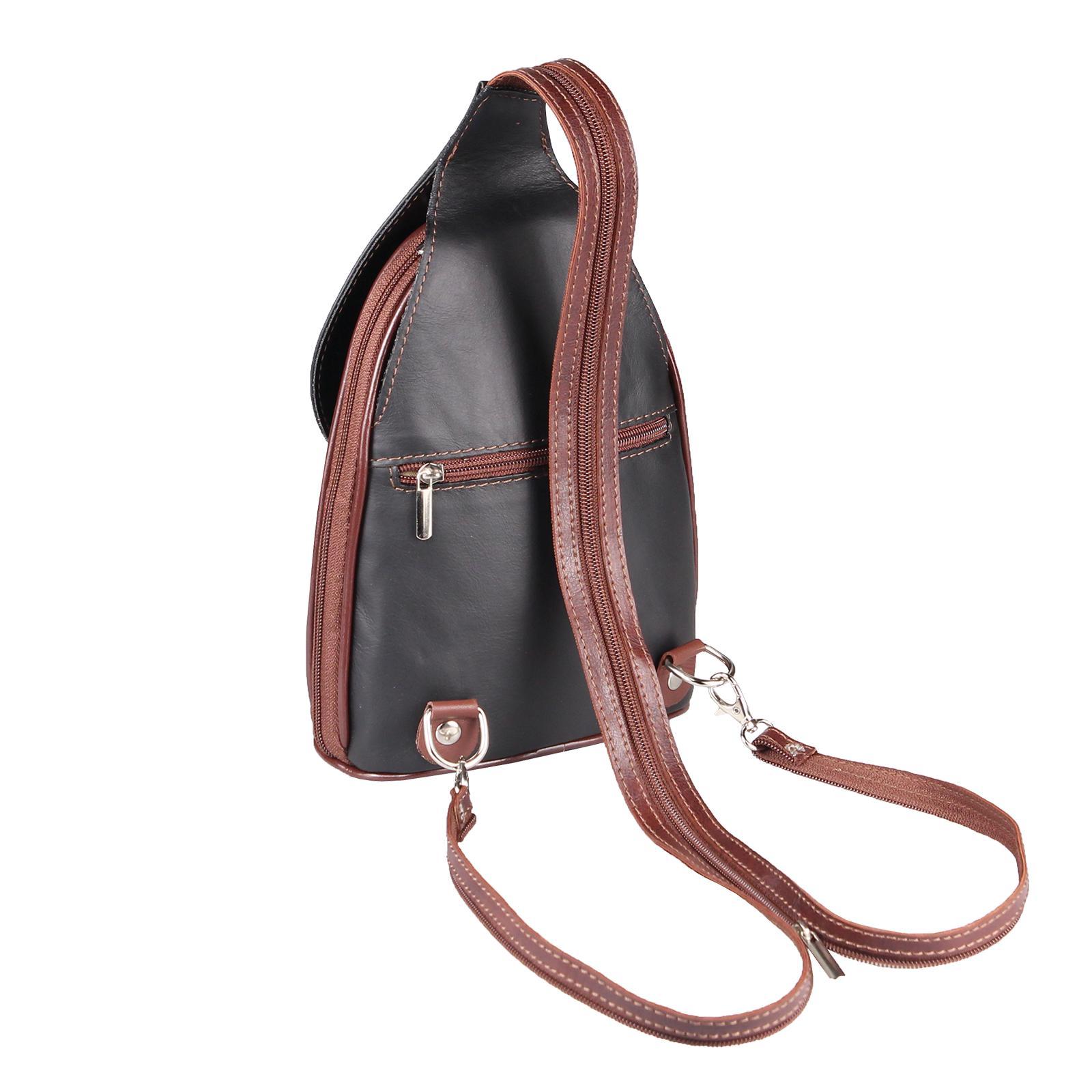 ITALY-DAMEN-LEDER-RUCKSACK-Schulter-Tasche-Reise-BACKPACK-Lederrucksack-it-BAG Indexbild 97