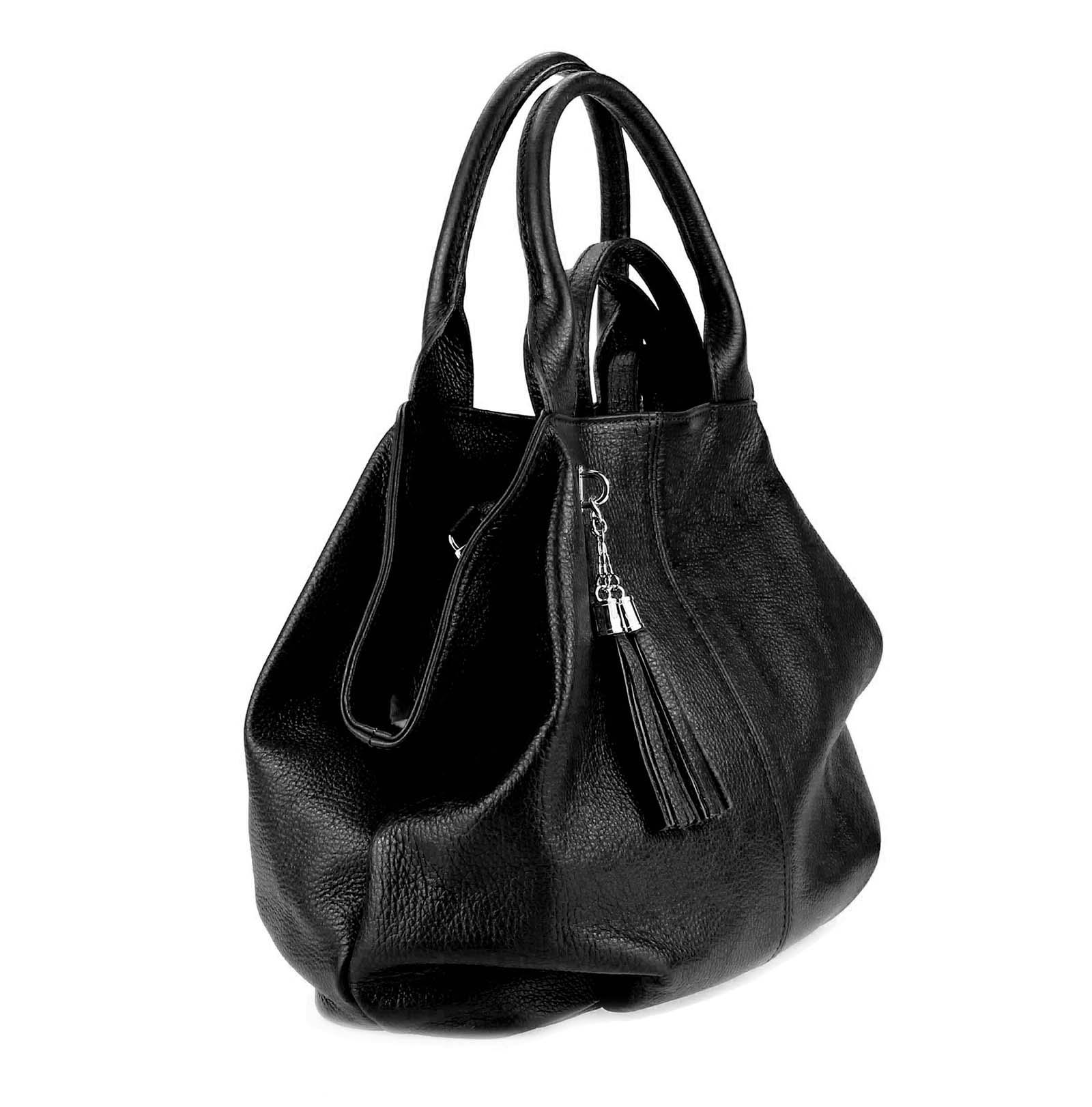 ITALY-LEDER-SHOPPER-Umhaengetasche-Schulter-Hand-Tasche-Damentasche-Ledertasche Indexbild 24