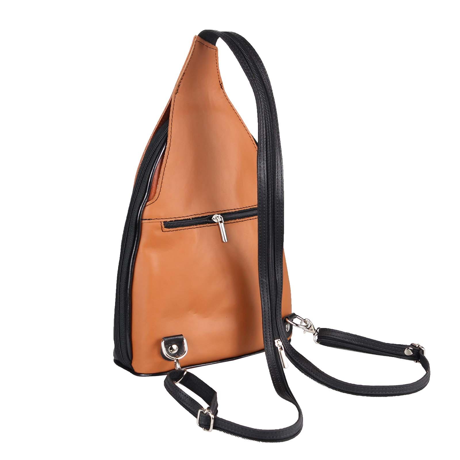 ITALY-DAMEN-LEDER-RUCKSACK-Schulter-Tasche-Reise-BACKPACK-Lederrucksack-it-BAG Indexbild 45