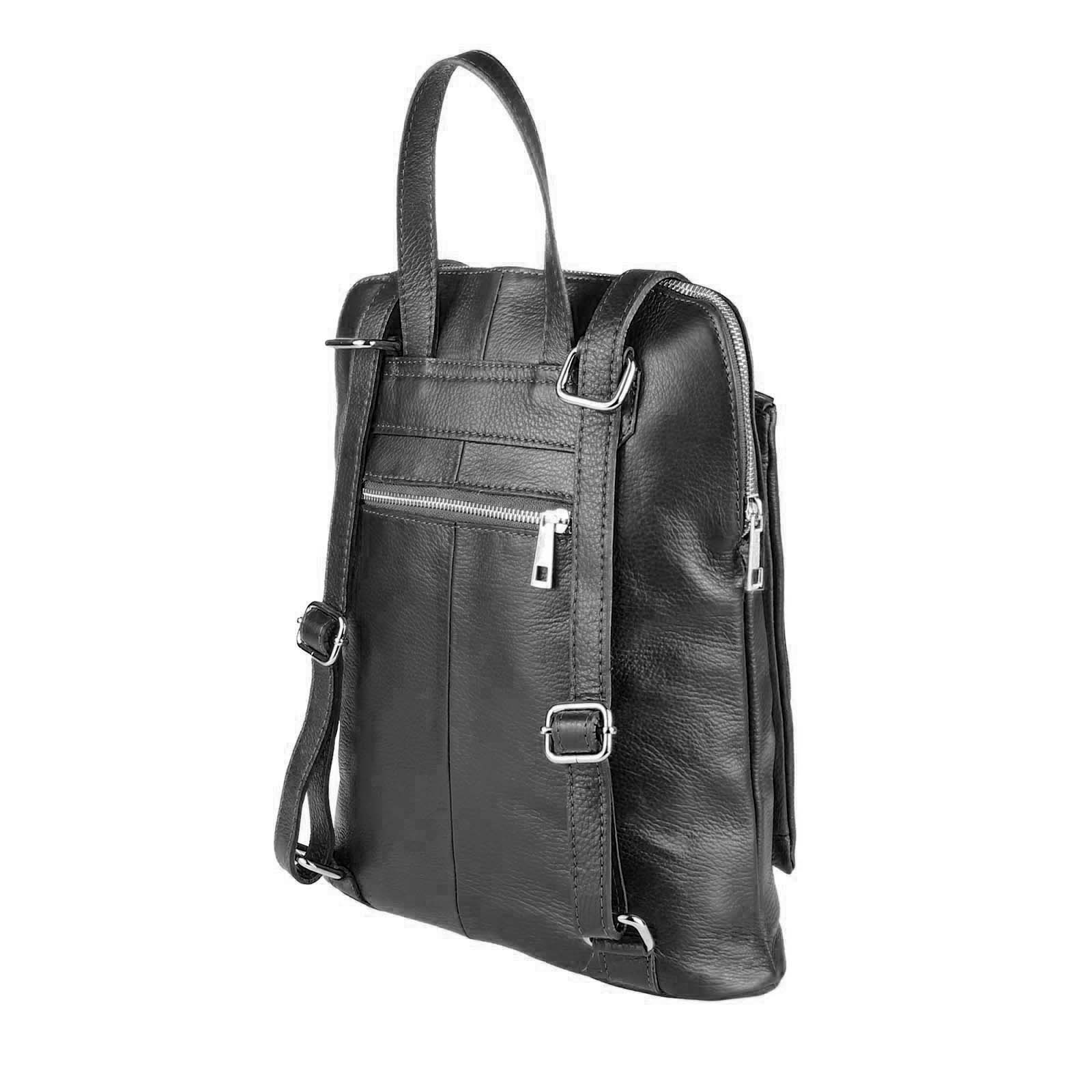 ITALy-DAMEN-LEDER-Reise-RUCKSACK-SchulterTasche-Shopper-Backpack-Ledertasche-BAG Indexbild 17