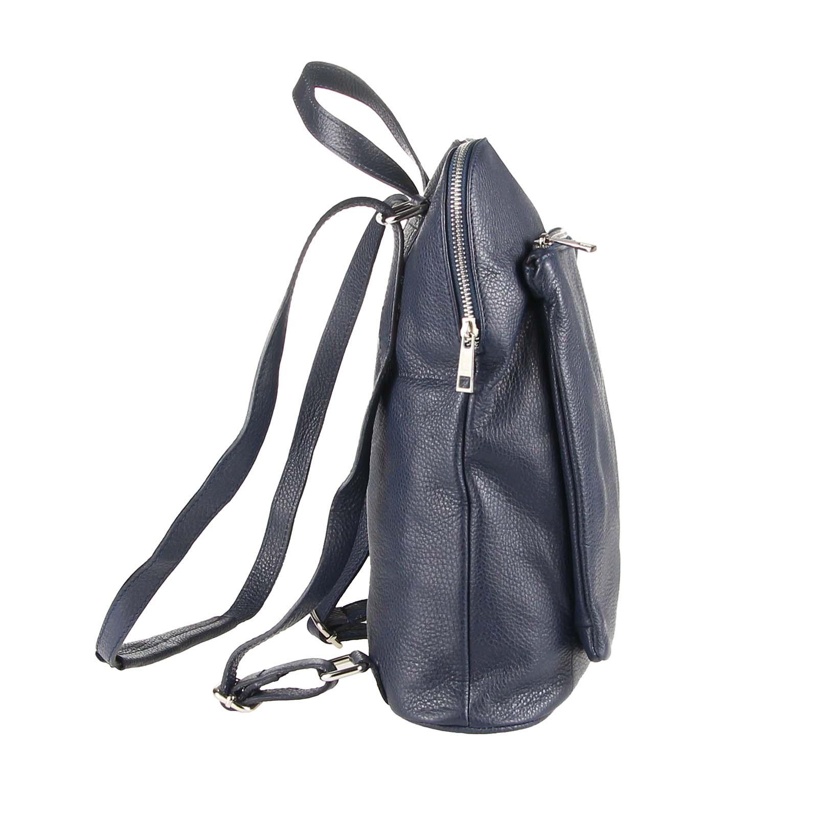 ITALy-DAMEN-LEDER-Reise-RUCKSACK-SchulterTasche-Shopper-Backpack-Ledertasche-BAG Indexbild 41