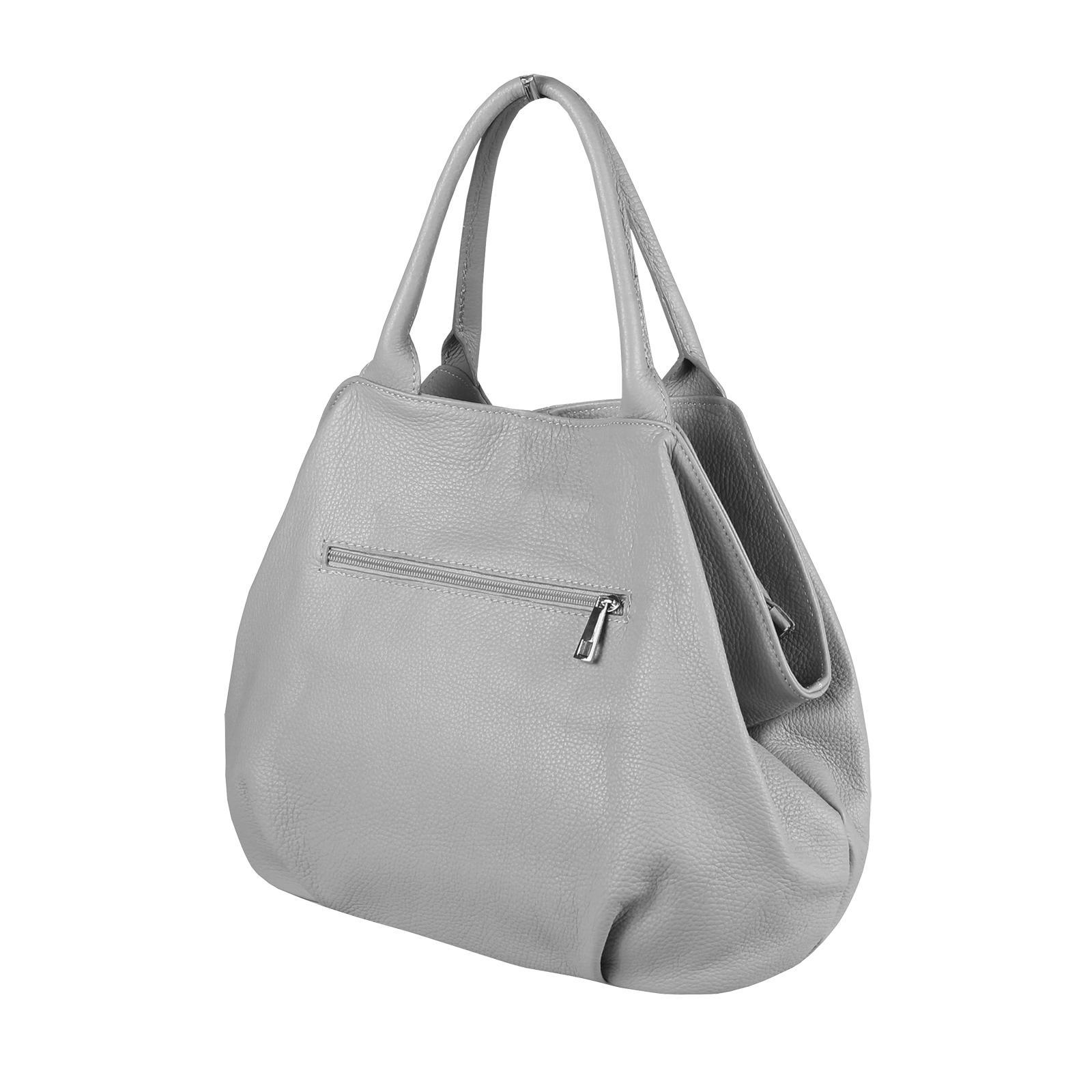 ITALY-LEDER-SHOPPER-Umhaengetasche-Schulter-Hand-Tasche-Damentasche-Ledertasche Indexbild 31