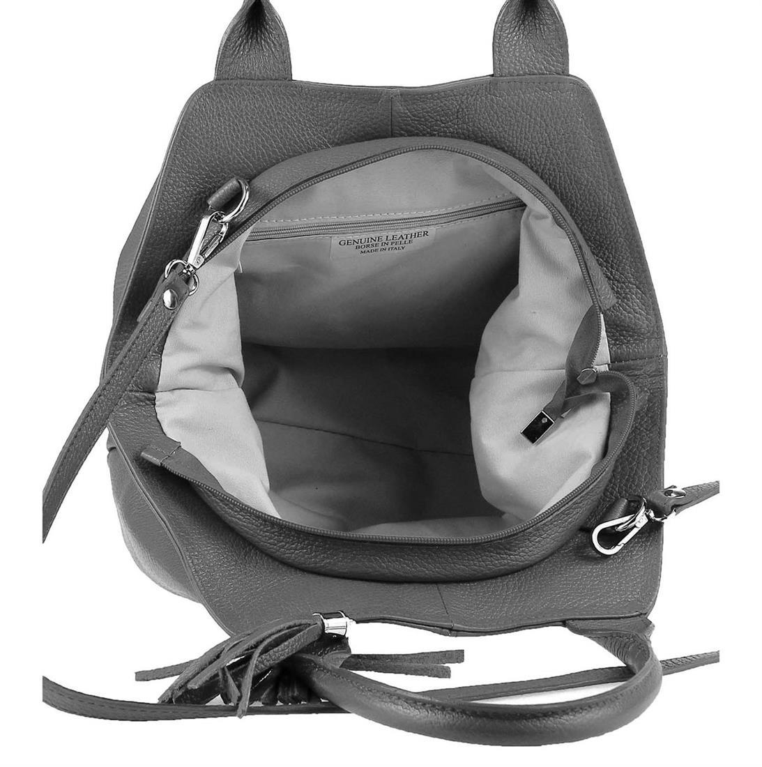 ITALY-LEDER-SHOPPER-Umhaengetasche-Schulter-Hand-Tasche-Damentasche-Ledertasche Indexbild 28