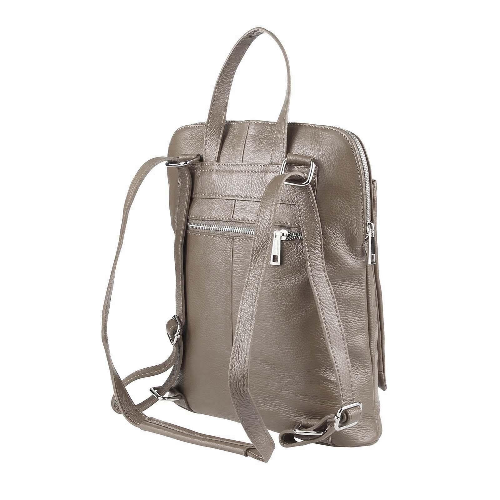 ITALy-DAMEN-LEDER-Reise-RUCKSACK-SchulterTasche-Shopper-Backpack-Ledertasche-BAG Indexbild 52