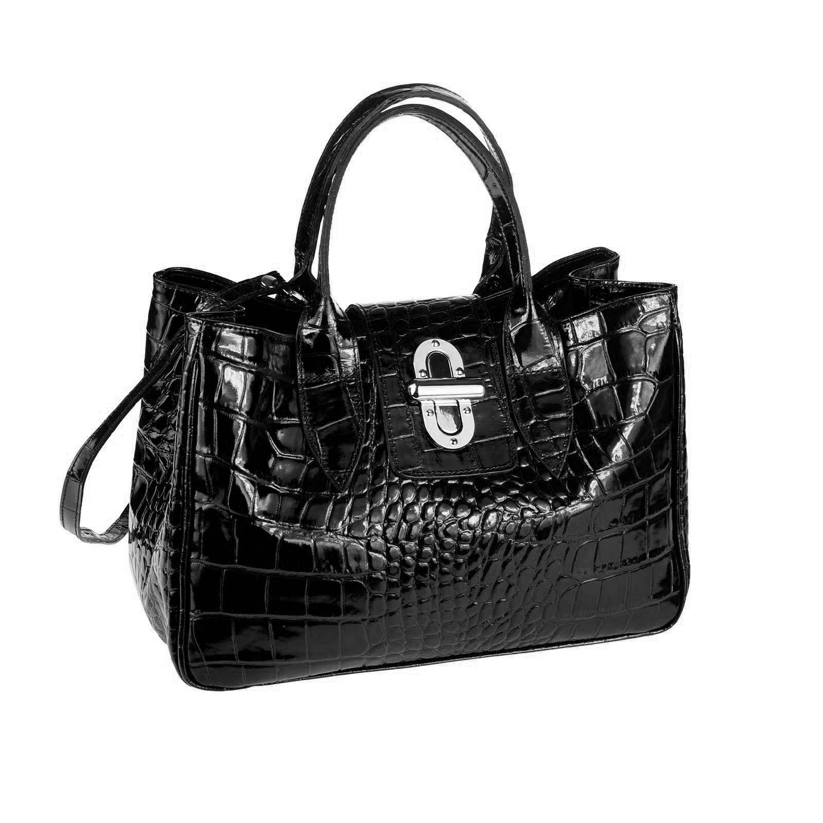 Main Shopping Femmes Vernis Business Sac À Anse Ital Pour Cuir Bandoulière qw7X6YZA