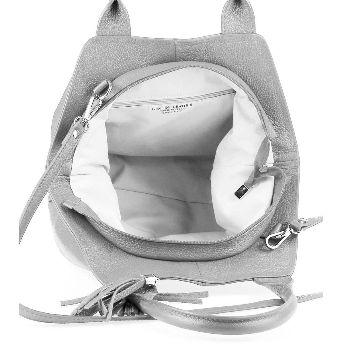 ITALY-LEDER-SHOPPER-Umhaengetasche-Schulter-Hand-Tasche-Damentasche-Ledertasche Indexbild 12