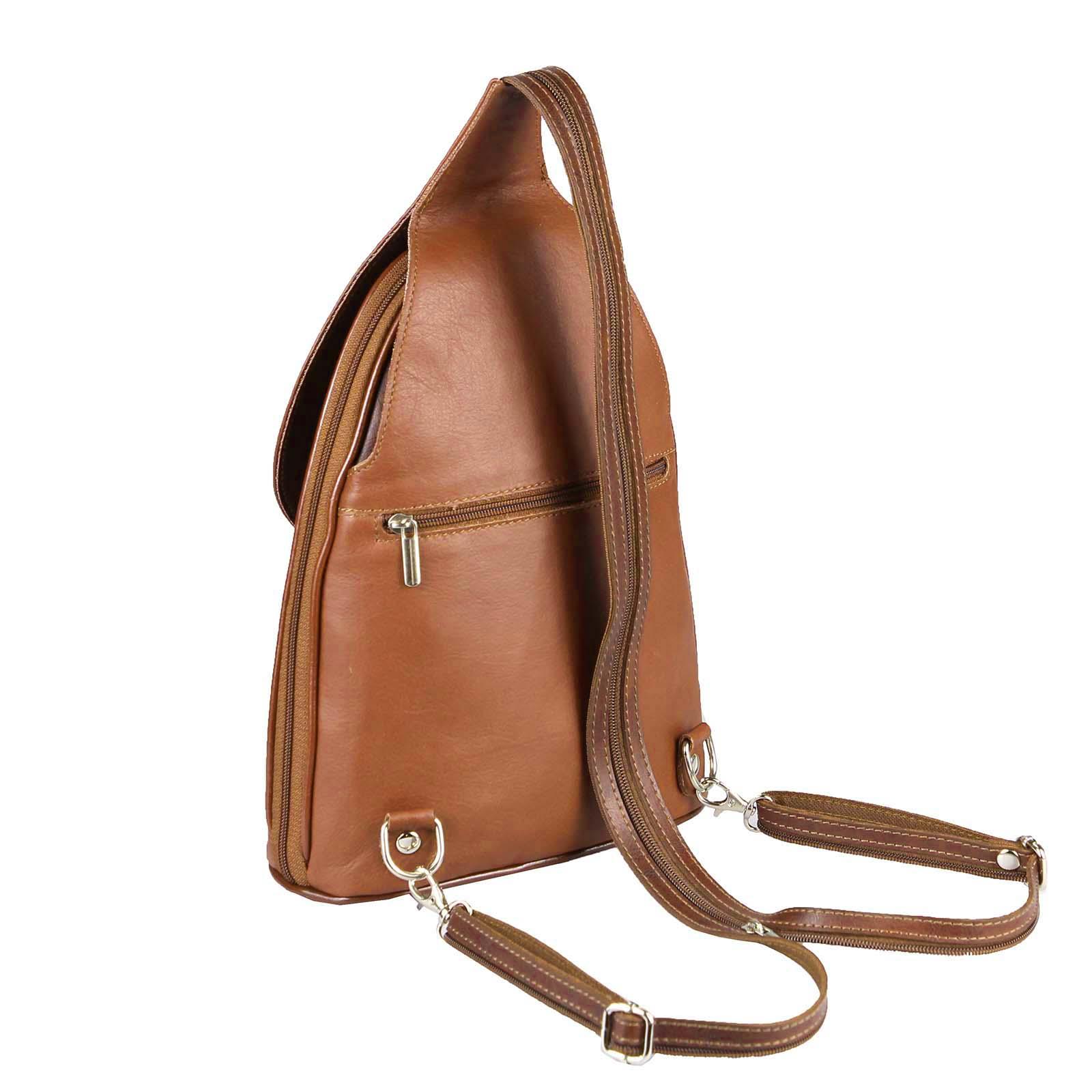 ITALY-DAMEN-LEDER-RUCKSACK-Schulter-Tasche-Reise-BACKPACK-Lederrucksack-it-BAG Indexbild 70