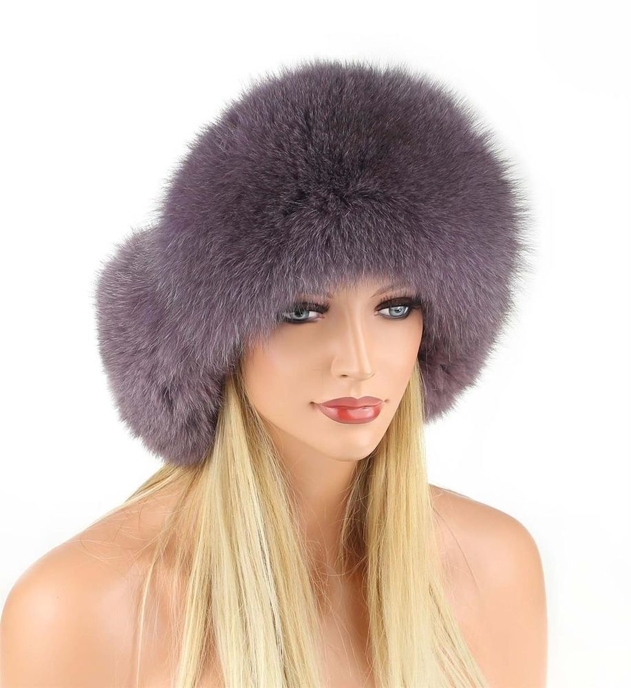 eba165fe24f Ladies Pelz-Mütze fur Cap Fox Leather Hat Aviator Winter Cap Ski Cap ...
