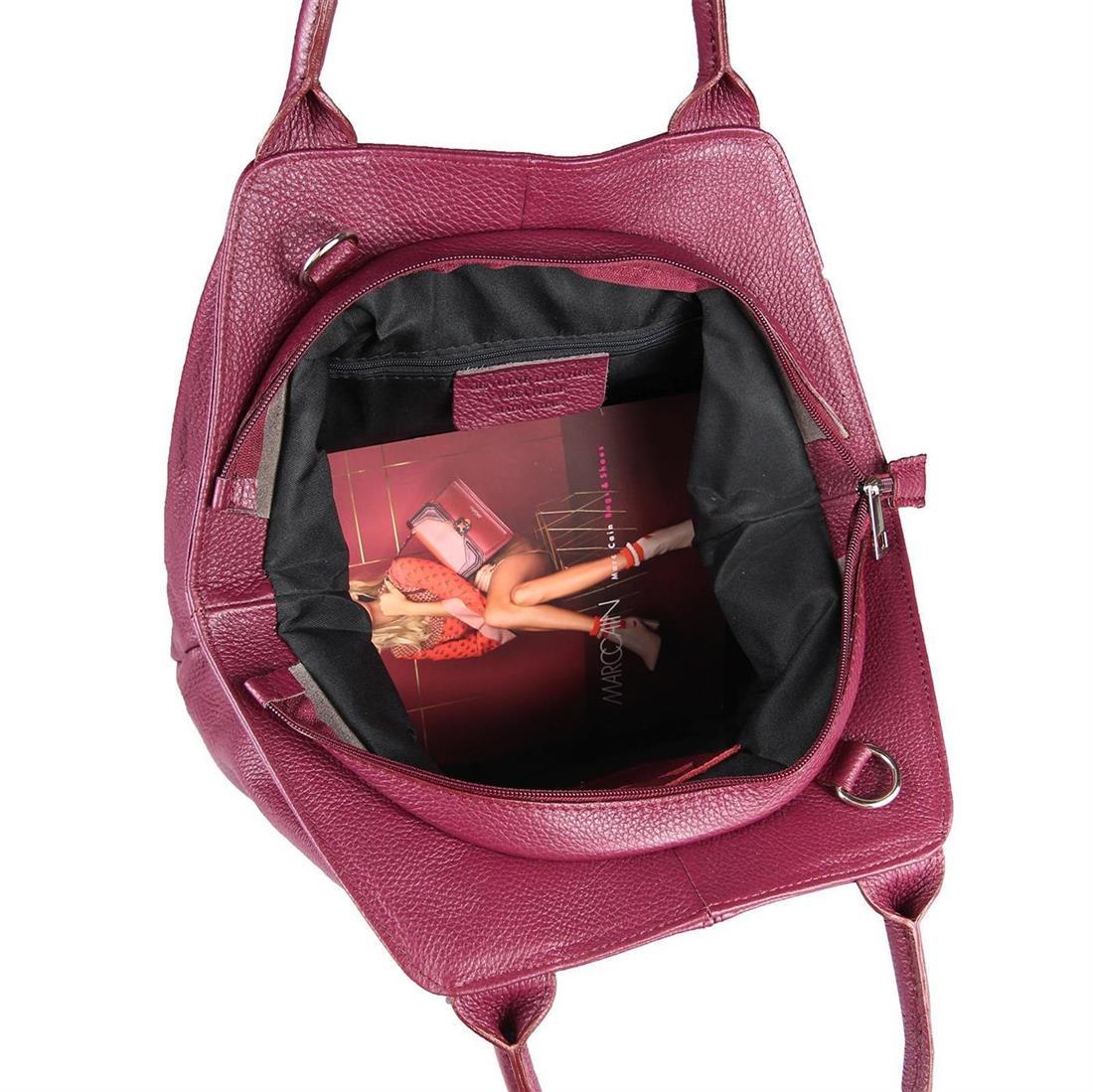 ITALY-LEDER-SHOPPER-Umhaengetasche-Schulter-Hand-Tasche-Damentasche-Ledertasche Indexbild 10