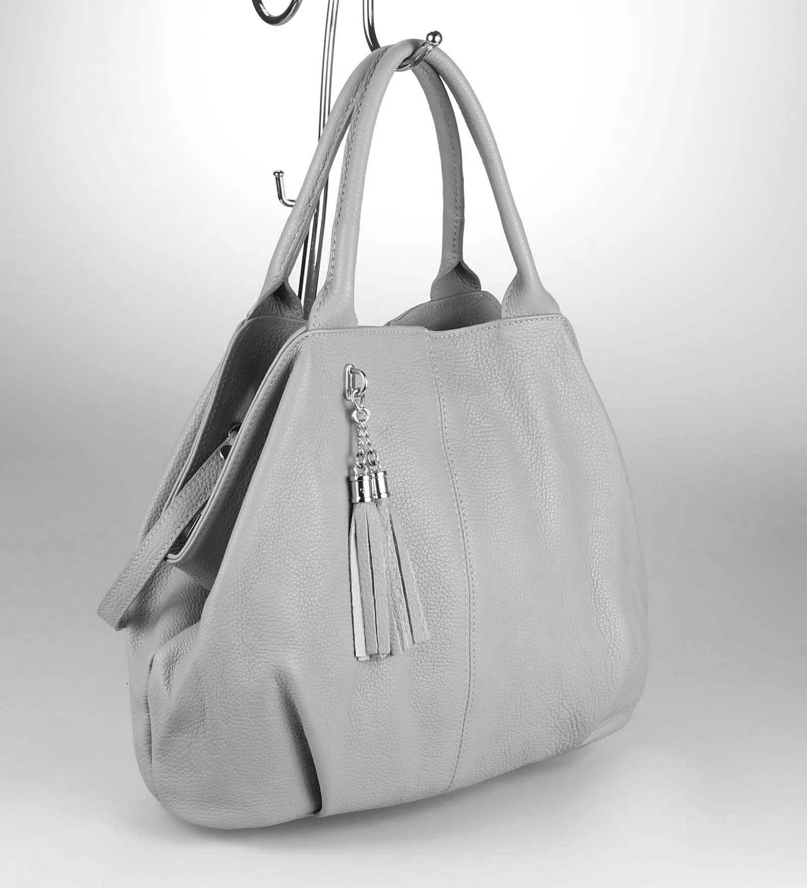 ITALY-LEDER-SHOPPER-Umhaengetasche-Schulter-Hand-Tasche-Damentasche-Ledertasche Indexbild 30