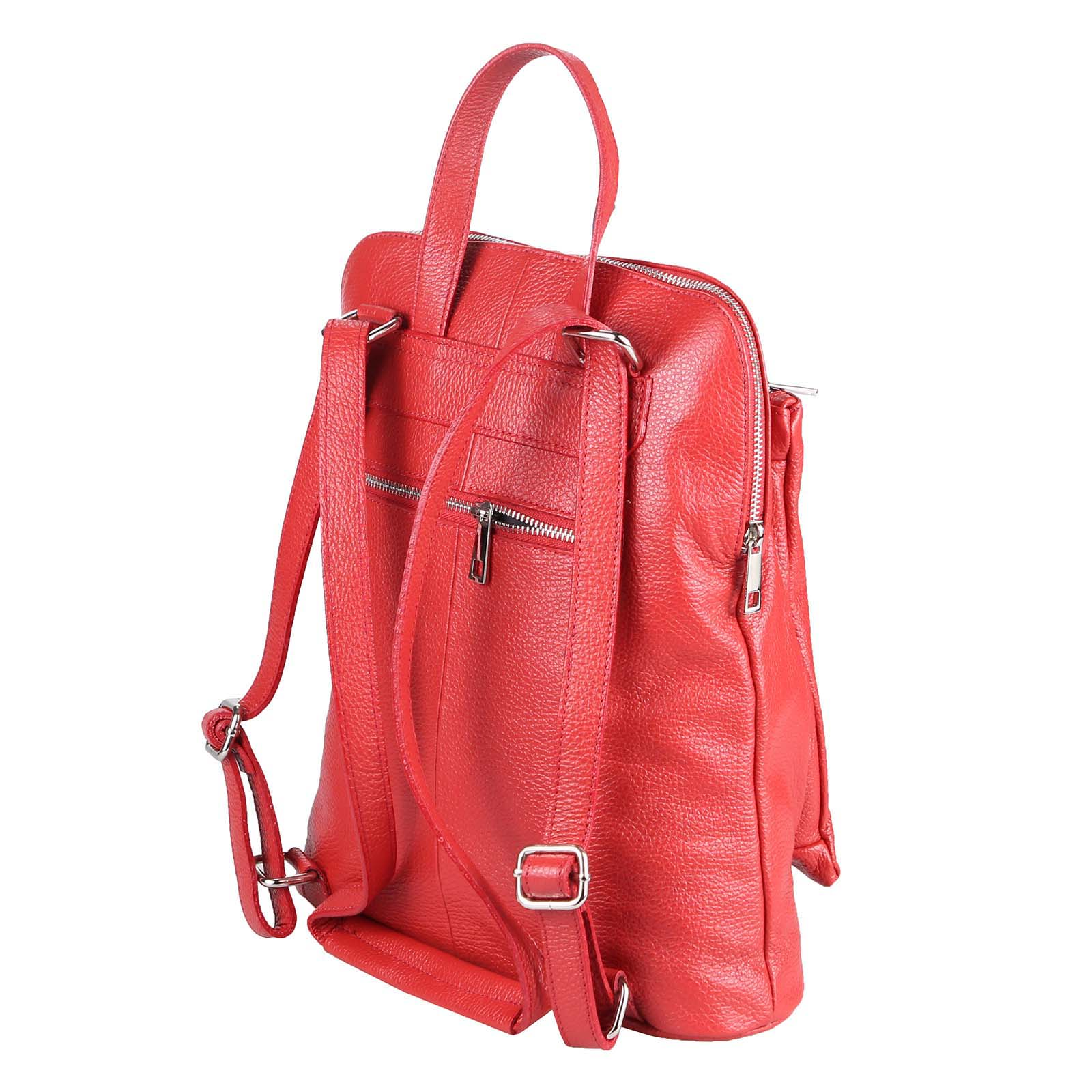 ITALy-DAMEN-LEDER-Reise-RUCKSACK-SchulterTasche-Shopper-Backpack-Ledertasche-BAG Indexbild 64