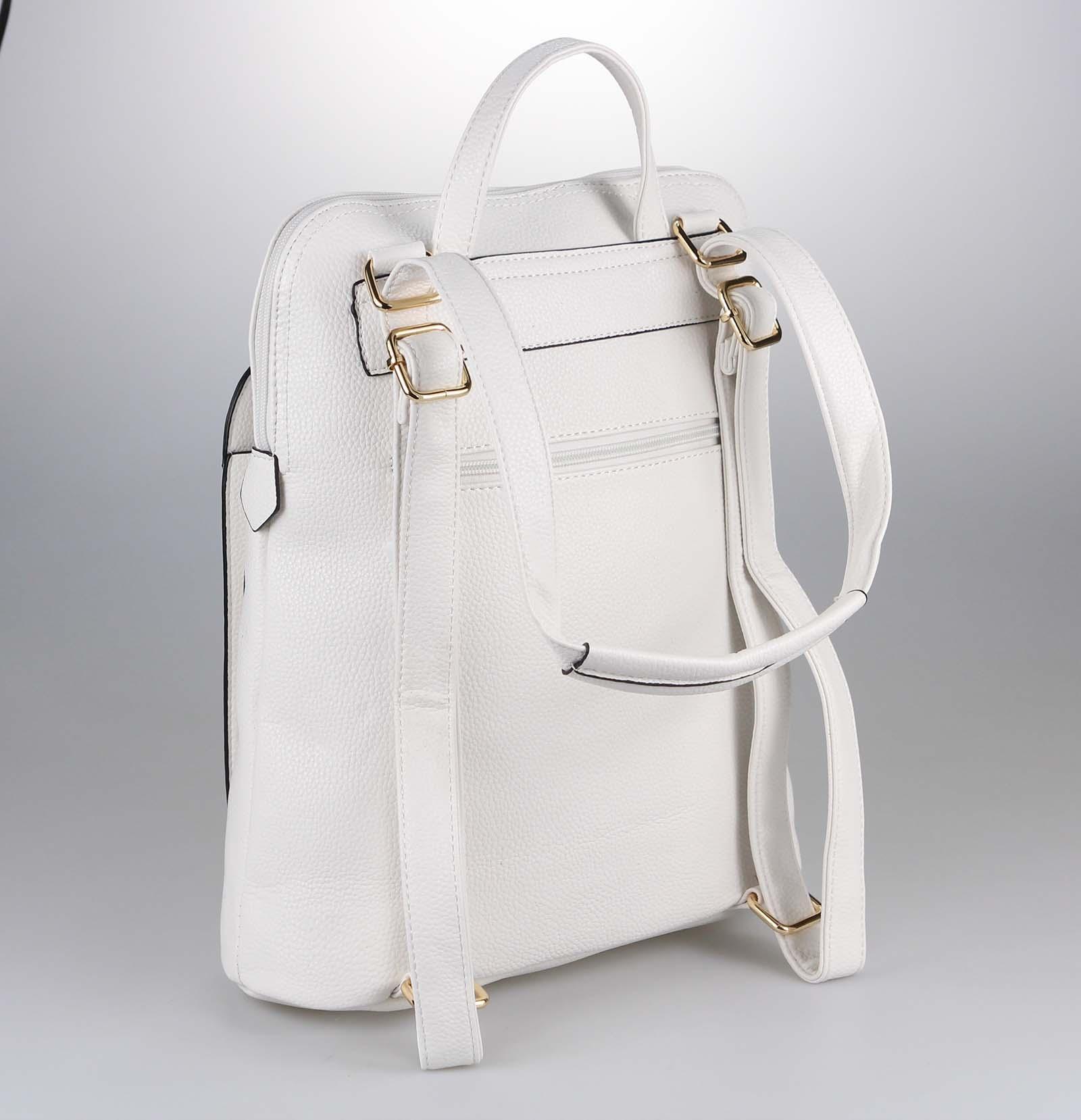 Damen Rucksack Leder Damentasche Handtasche Schultertasche Optik Reise Urlaub