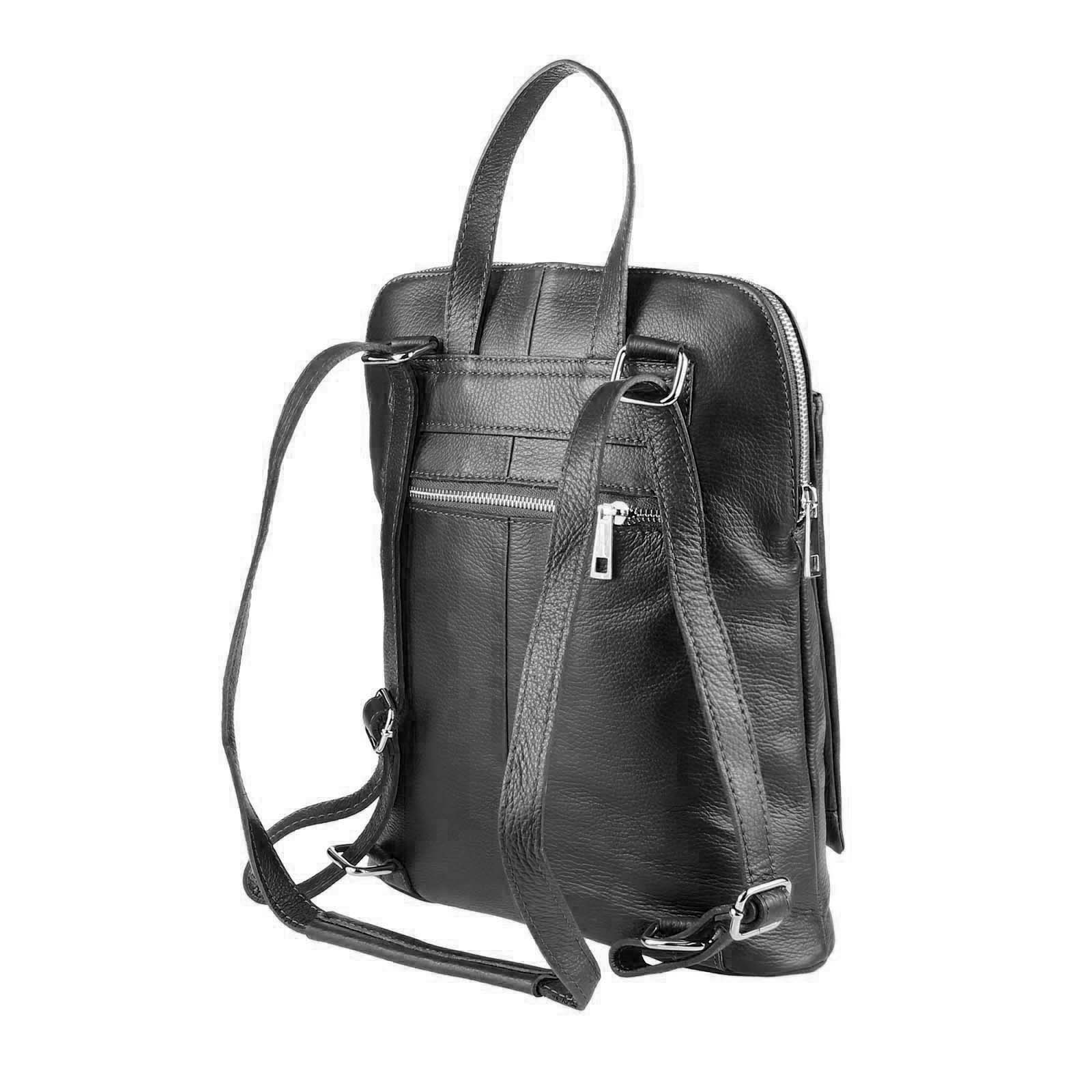 ITALy-DAMEN-LEDER-Reise-RUCKSACK-SchulterTasche-Shopper-Backpack-Ledertasche-BAG Indexbild 14
