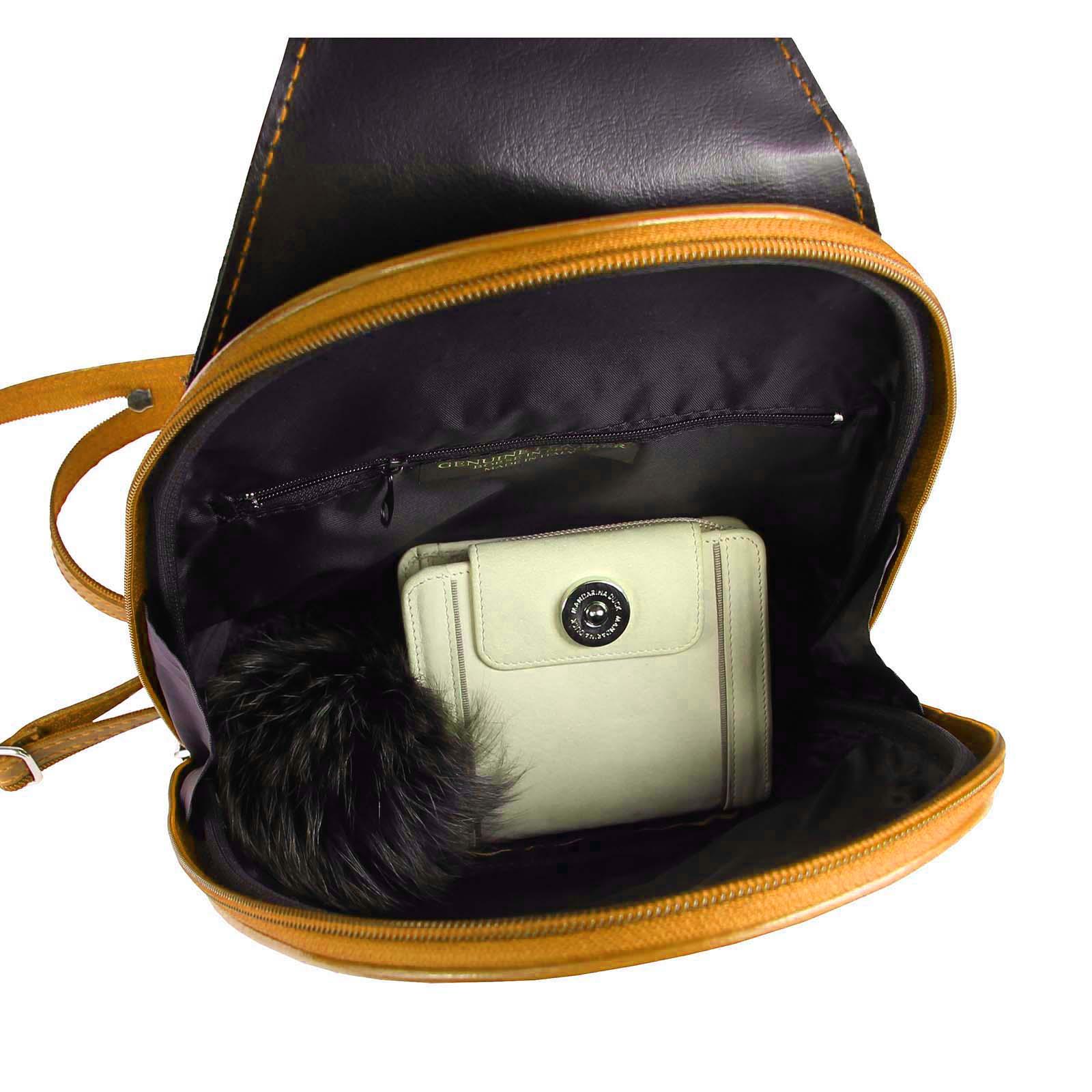 ITALY-DAMEN-LEDER-RUCKSACK-Schulter-Tasche-Reise-BACKPACK-Lederrucksack-it-BAG Indexbild 78