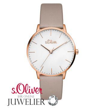 So Armbanduhrroségold Mit Leder Uhr Armband S Damen Lq 3441 oliver R3jL54A