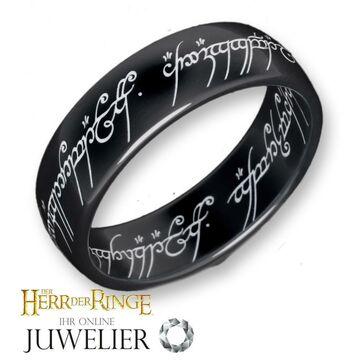 Details zu Herr der RingeHobbit Schmuck der EINE Ring aus Titanschwarz 10004043