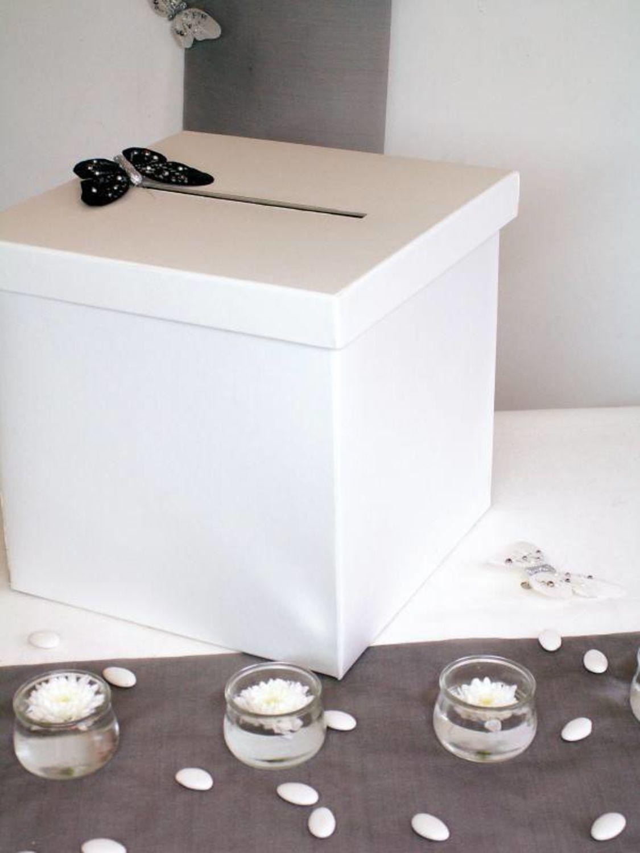 Box Fur Geldgeschenke Hochzeit Umschlage Tombola Verlosung In Weiss