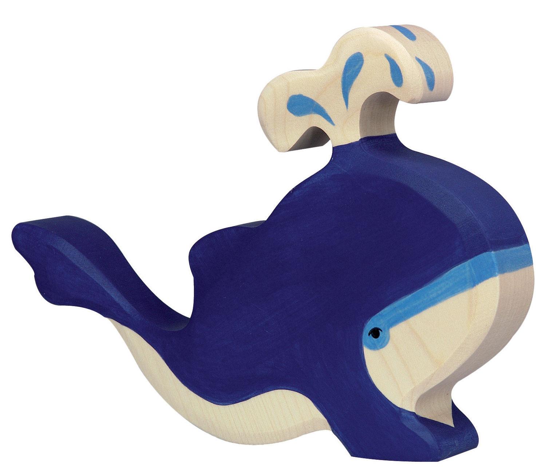Delfin Holzfigur Holzspielzeug Meerestiere von Holztiger Holzfiguren