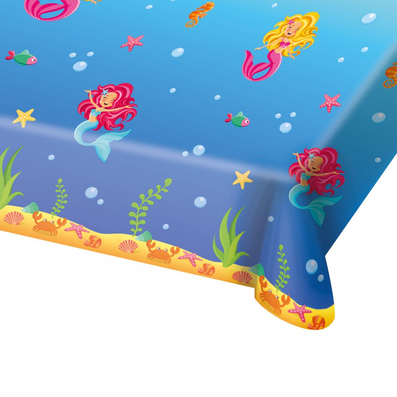 Tischdecke transparent mit silbener Barock Lilie Party Deko aus PVC