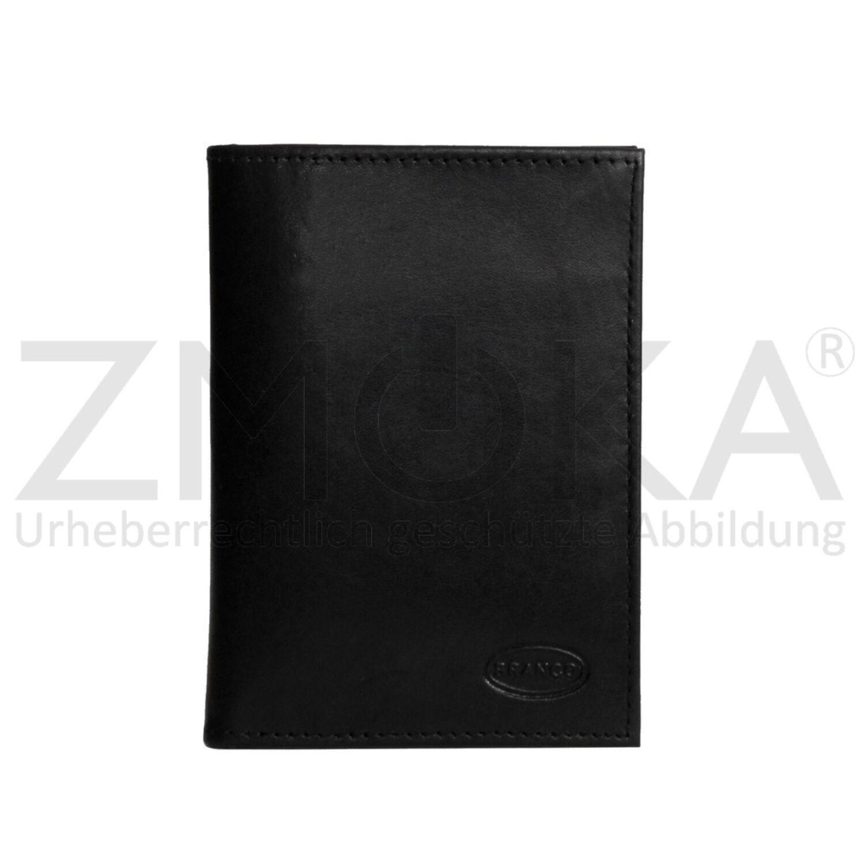 Unisex Dokumentenmappe Kartenmappe Ausweisshülle Etui Schwarz Branco