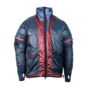 Adidas Bonded Jacke silber M Daunen Olympia Athleten