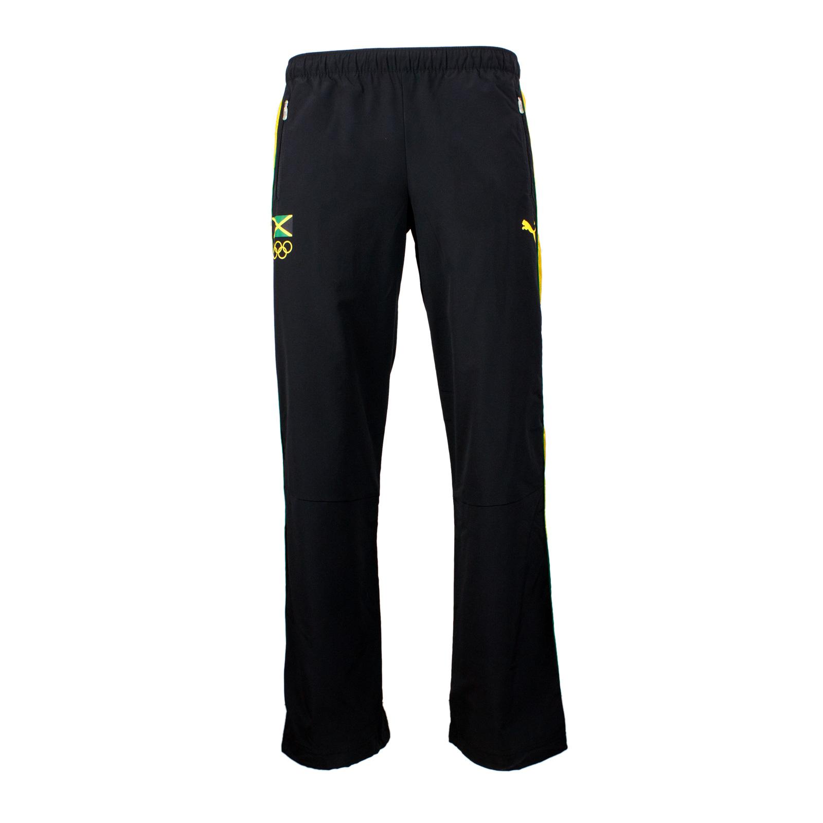 Puma Jamaica Damen Warm Up Pants Jogginghose Trainingshose schwarz 36 38 40 42