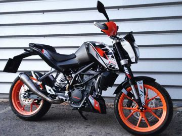 auspuff ktm duke 125 tuning gp style ebay. Black Bedroom Furniture Sets. Home Design Ideas